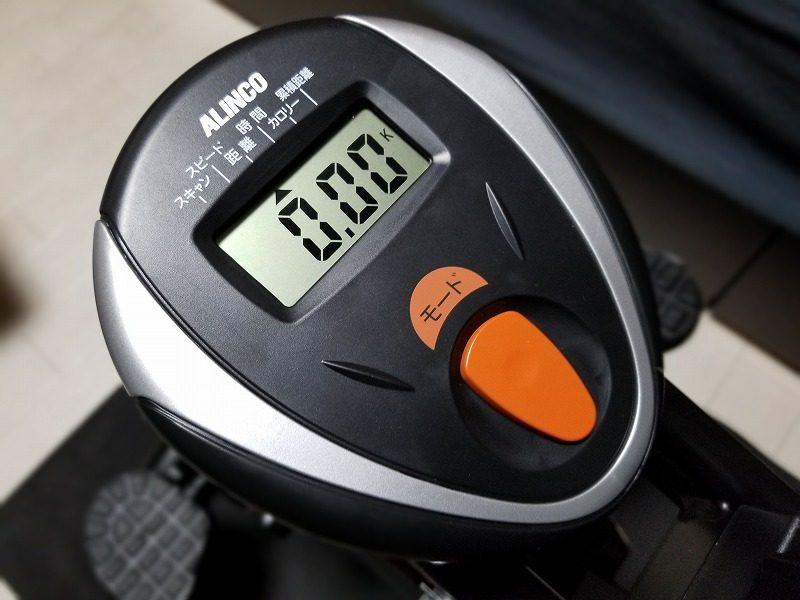 ALINCO(アルインコ) のエアロバイク(BK2000)画面