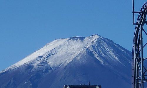 2020年の富士山初冠雪