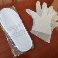 スリッパと手袋